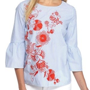 Crown & Ivy Embroidered Top